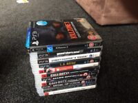 PS3 80GB with 12 games including GTAV, Street Fighter X Tekken, Mass Effect 2