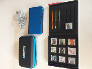 Nintendo 3DS XL with 10 games