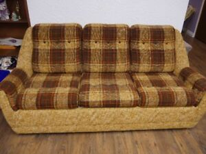 Chesterfield  couch with bed pull out