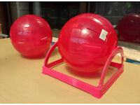 two large excersize balls