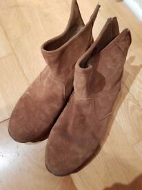 Brown Booties - good condition