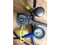 Scuba gear: regulator & BCD harness