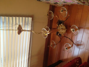 Golden crystal chandeliers for sell $ 50