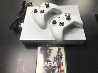 Microsoft Xbox One S 500GB With 2 Controllers Fifa 17 & Mafia 3 Under Warranty for 9 Months
