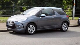 2010 DS3 1.6 petrol, manual, 2 owners, 61000 miles, FSH, metallic grey with unusual light blue roof