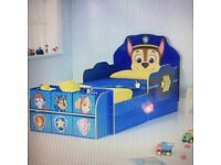 Paw patrol toddler bed including silent night matress