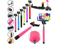 Strong Selfie Stick Telescopic Bluetooth Wireless Remote For Smart Phone Mobile
