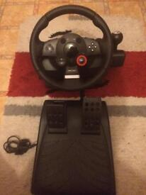 PS3 wheel driving force GT