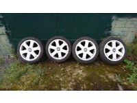"Audi S3 17"" alloy wheels with tyres 5x100 Volkswagen Golf Corrado etc"