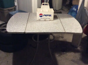 Chrome Table with Drop Leaf $25 obo
