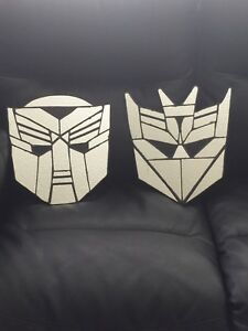 Transformers twin bed set w/unique stained glass wall hanging