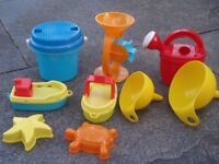 Selection of water play toys