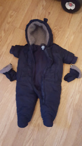 boys snow suit 3-6 months