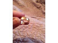 Rose gold wedding ring 9ct.