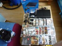 SONY PS3 SUPER SLIM 500GB WITH 21 GOOD GAMES SOME NEW