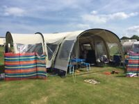 Outwell Wolf Lake 7 Tent, side extention, footprint, carpet and loads of extras