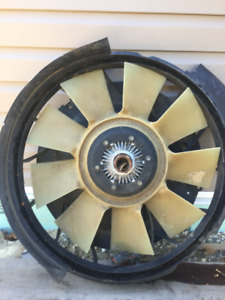 Fan Motor and Cowling for F-350 Pickup 2004