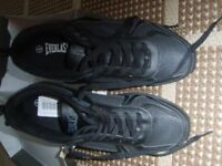 everlast mens black trainers size 8 brand new in box