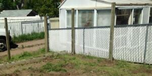 50' Chain link fence - Roll, posts and gate