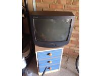 Meduim Size used old style Samsung Television with Remote Control