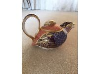 QUAIL *TEAPOT* Royal Crown Derby Imari Pattern 1316 Porcelain ❤