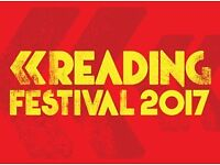 Reading Festival Weekend Camping Ticket - Thu 24 Aug 2017 - Sun 27 Aug 2017 - SOLD OUT!