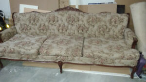 Antique French Provincial sofa Classic  love seat