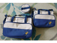 3 pcs changing/nappy bag set
