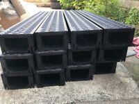 New 8 x 1 METRE ACO hexdrain plastic drainage channels