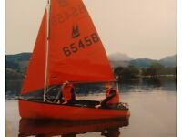 Mirror Dinghy and trailer - complete, good condition