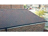 Reclaimed building materials for single garage: bricks, roof structure, roof tiles, doors, window