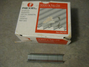 Rexel No. 28 Staples-Pack of 5000-plus some extra things-Lot $5