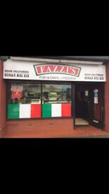 Takeaway Chippy and pizeria for sale