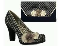 """Ruby Shoo"" Ladies shoes and matching handbag"