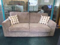 2 Seater Grey Beige Fabric Sofa