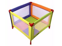 iSafe Zapp And Nap 101cm x 101cm Luxury Square Travel Cot Playpen Mixed Color