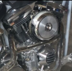 Harley, s&s, engine, parts, polished cases.