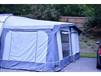 Caravan awning complete with awning mat