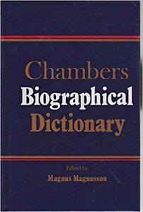 CHAMBERS BIOGRAPHICAL DICTIONARY, Hardcover 1990