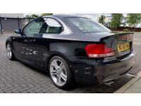 """2008 [58] BMW 120D M SPORT BLACK WITH WHITE HEATED LEATHER -18"""" ALLOYS - PART EXCHANGE WELCOME"""