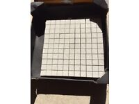 Mosaic tile sheets - grey pearl stone for border or feature