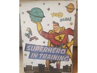 Superhero in training canvas