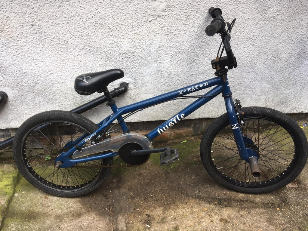 "BMXin Wigston, LeicestershireGumtree - Xrated Bmx11"" frame20"" wheelsGiro for bar spinsRear pegsVery clean nice bikeFully working"