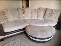 Corner Sofa, Cuddle Chair & Footstool