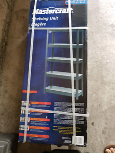 Brand new Mastercraft metal Shelving unit half price $45 firm