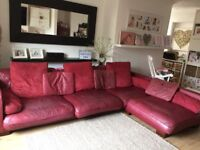 Large Res hide leather corner sofa, can be left handed or right handed