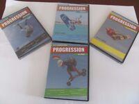 Job lot of 4 Progression kiteboarding DVD's