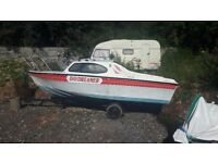 CABIN CRUISER BOAT AND TRAILER