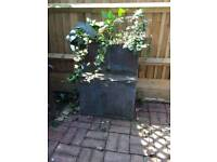 Copper Tank filled with soil/ Ivy. Garden feature / Metal