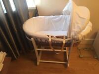 Moses basket mint condition